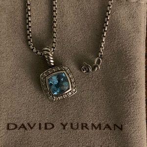 David Yurman Petite Albion Topaz Diamond Necklace